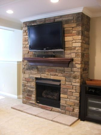 tv over fireplace - Hardware on the side
