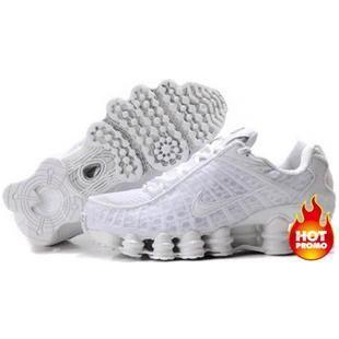 official photos c47a0 67ca8 ... www.asneakers4u.com Mens Nike Shox TL1 Full White ...