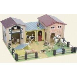 Le toy van boerderij. Met schuur en melkkamer.