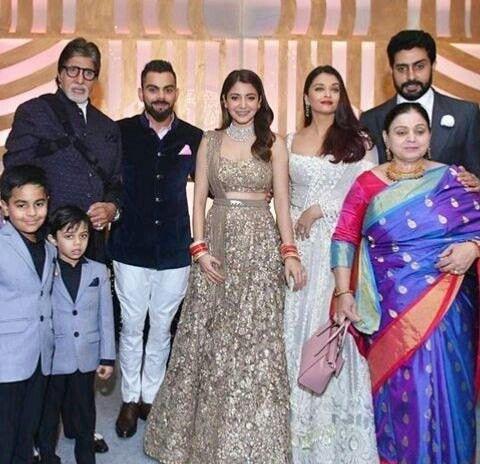 Bachchan family at virushka reception