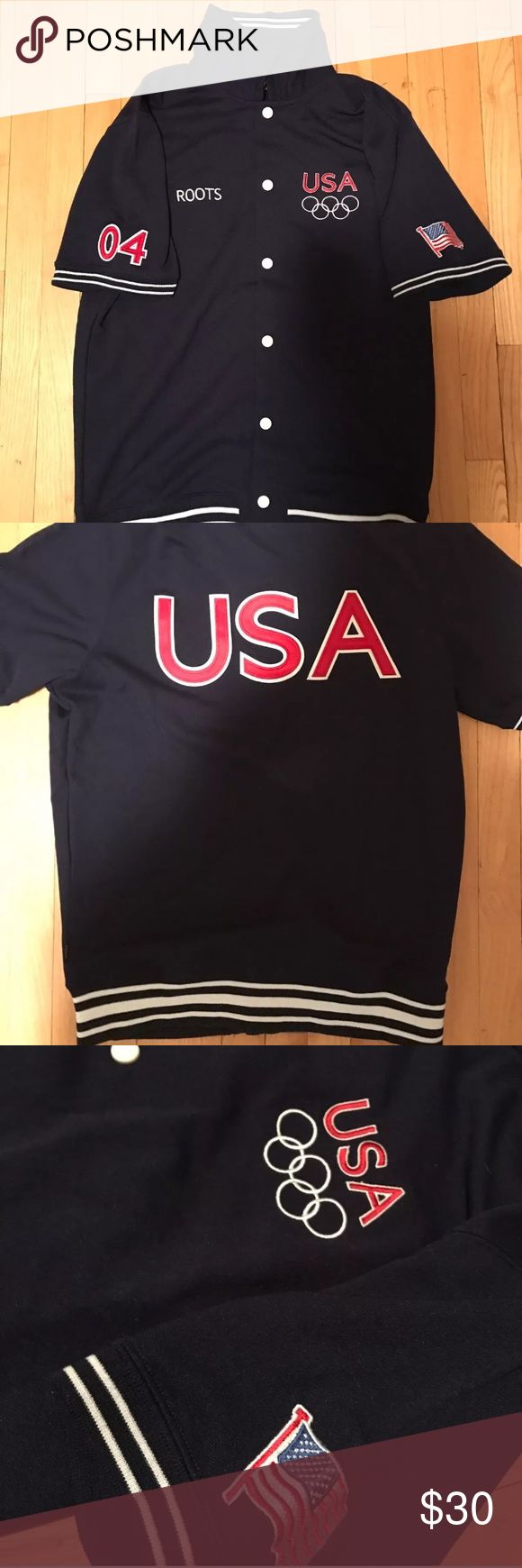 2004 Olympic Basketball Warm-up Jacket Roots USA USA participants men's warm up jacket from the XXVIII Summer Olympics held in Athens Greece, 2004. These jackets were given to athletes participating in the games.  medals, 6 of them Gold. Shirts