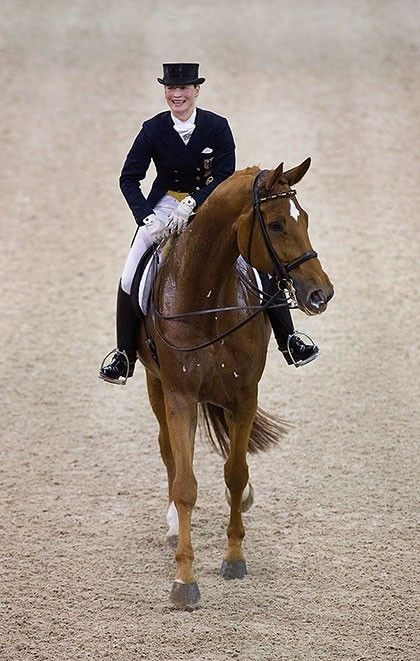 """Isabell Werth - Dressage - Germany - """"""""I believe we developed an exceptional saddle. Our foremost thought was for the horses and to design a saddle to sit optimally, with as little a burden for the horses as possible. I believe we succeeded with this very well and now the CAIR® Cushion System has gone one better. I have been riding in the Bates Isabell saddle with the CAIR® Cushion System, in training and competition, and I have to say I'm really impressed!..."""""""