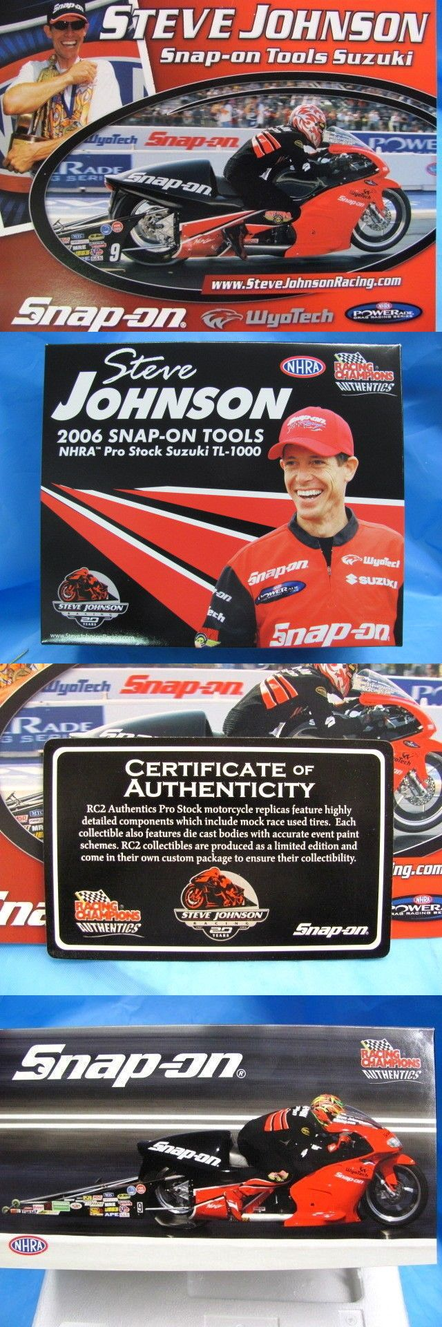 Contemporary Manufacture 45348: Steve Johnson Snap-On Nhra 2006 Die-Cast Pro Stock Suzuki Tl-1000 Nib Sealed -> BUY IT NOW ONLY: $55.99 on eBay!