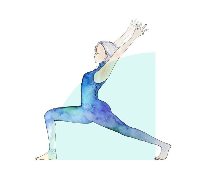 yoga illustrations minne