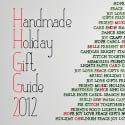 Crave Handmade - Handmade Holiday Gift Guide 2012