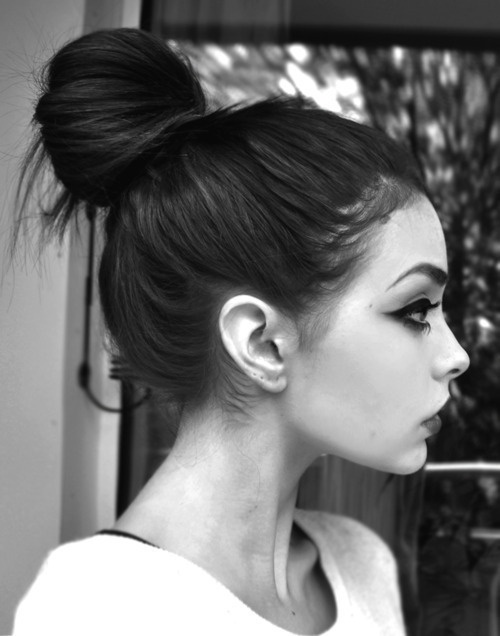 Pretty makeup and hair.