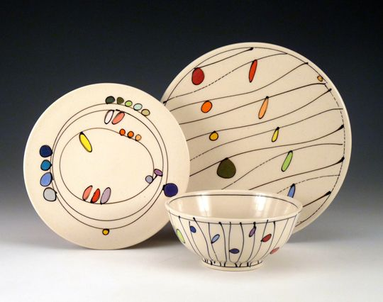 porcelain; low fire, clear glaze