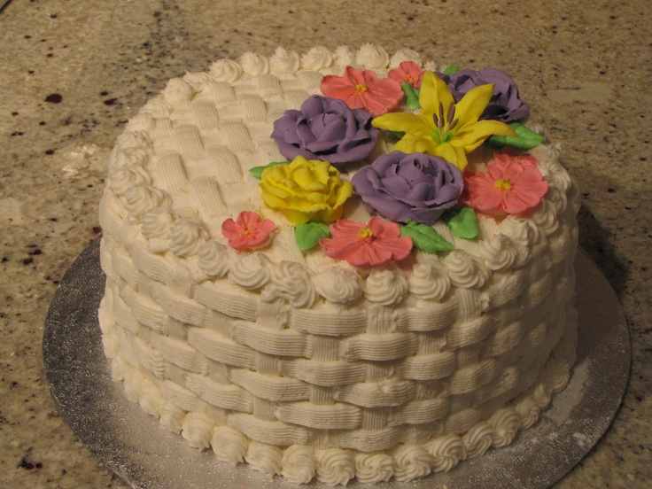 Basket Weave Cake With Flowers Cakes I Ve Made