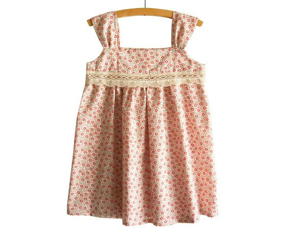 Summer Girl Dress Pattern Tutorial/ Toddler dress pattern/ Girls Dress Pattern/ Childrens Sewing Pattern. Easy Sew Size 2T,3T,4T,5,6