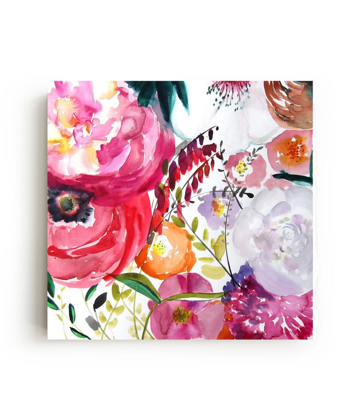 """Stretched canvas print of the original painting by Christine Lindstrom. Printed with archival inks on Canon Artistic Satin canvas. Hand-stretched on 1.25"""" stretcher bars - Ready to hang. 100 years in"""