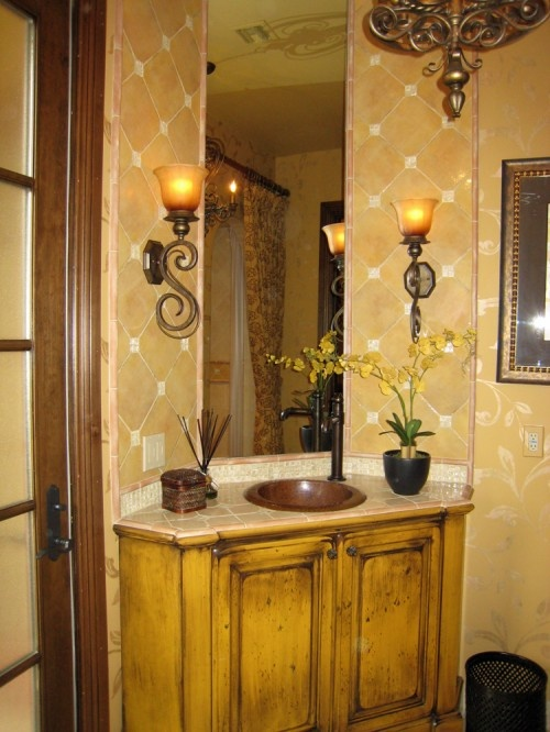 27 best tuscan bathroom lighting images on pinterest bathroom tile to wallpaper transition good good lighting mozeypictures Images