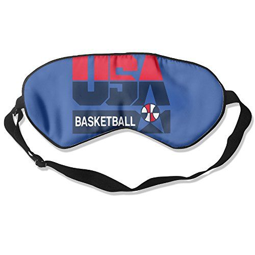 WLHZQS USA 2016 Olympic Basketball Team Logo Natural Silk Eye Mask without Ice Bag ** Read more  at the image link.