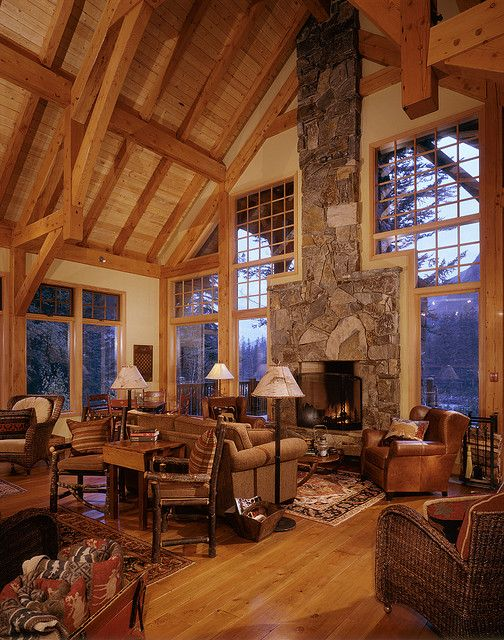 414 Best Images About Luxury Log Cabins On Pinterest