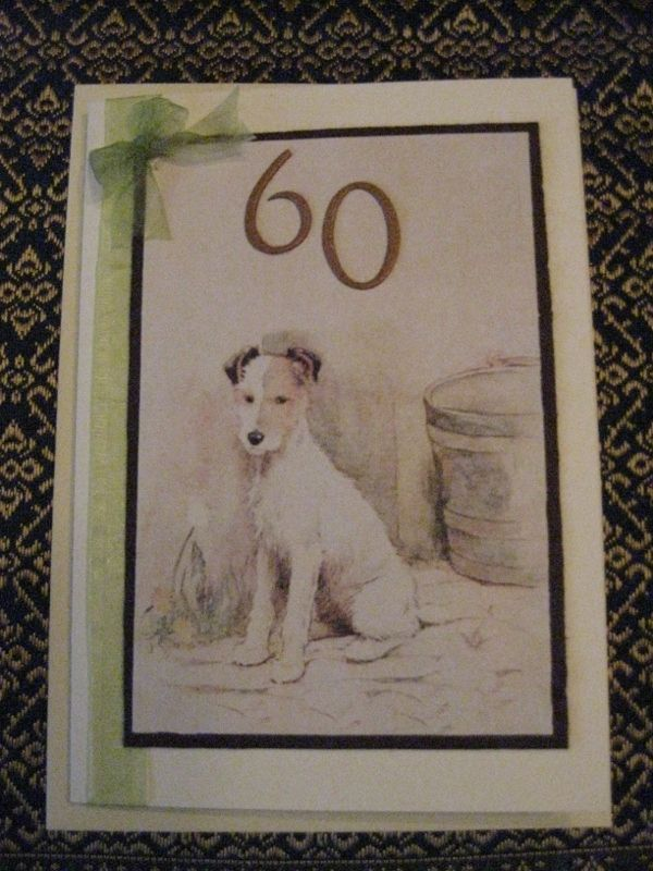 Loved making this card for a special friends 60th Birthday - she loves those cute little Jack Russell's.