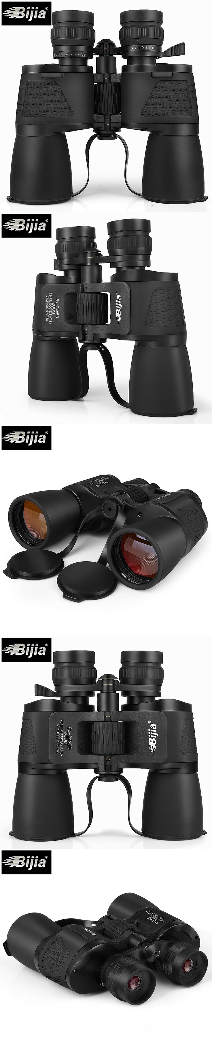 BIJIA 8-24X50 high quality powerful binoculars long range zoom hunting Telescope professional high definition waterproof