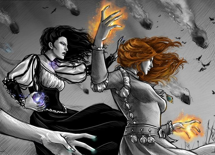 Battle of Sodden Hill (Triss and Yennefer) by Anastasia Kulakovskaya (Witcher)