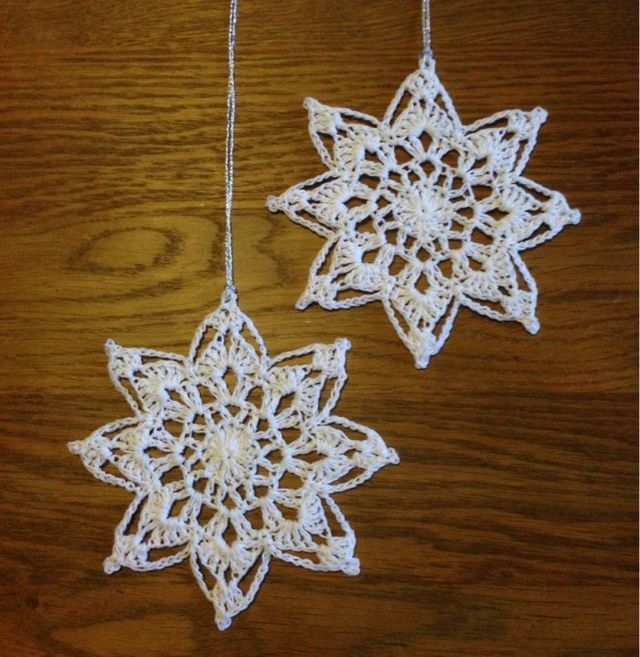 Crochet your star of hope! *start with a magic ring. R1-16 dc in the ring. R2-* 1dc ch2 1dc in the first dc, skip one dc*, repeat *__* R3-*2dc ch3 2dc in next 2-ch, ch1* repeat *__* R4-sl stich to the