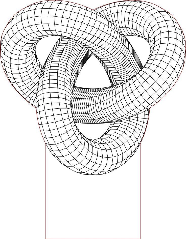 Acrile LED Torus knot 3D illusion lamp vector file