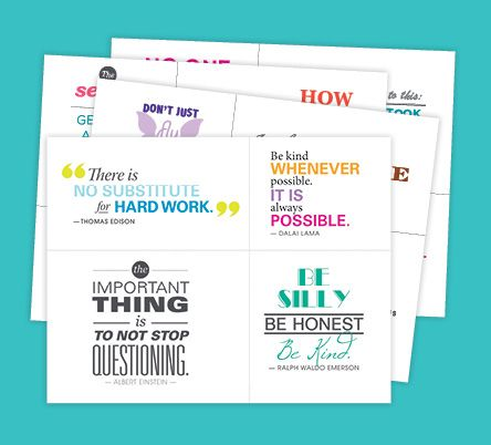 Decorate your walls with forty inspirational quotes—one for every week of the school year!