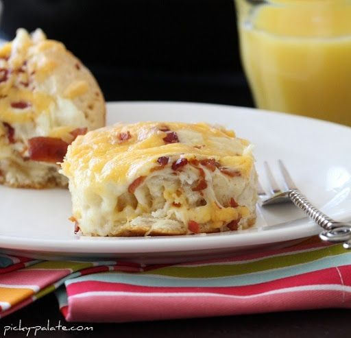 Easy Cheesy Bacon Biscuit Pull-Aparts Recipe on Yummly