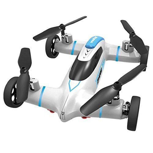 INCREDIBLE CAR AND AIRCRAFT COMBINATIOIN-You can play it as a car or an aircraft. Land and Fly Mode.Land mode - Functions as a remote control car with 2 speed mode.Fly Mode - Functions as a quadcopter with 2 speed mode, 360 degree flip 360 Degree Eversion: 360 degree 3D eversion function.Exclusive matte black and yellow flame colorway - Exclusive by Red Rock . . . read more . . . pls repin