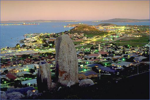 Saldanha - evening view of the town and bay.
