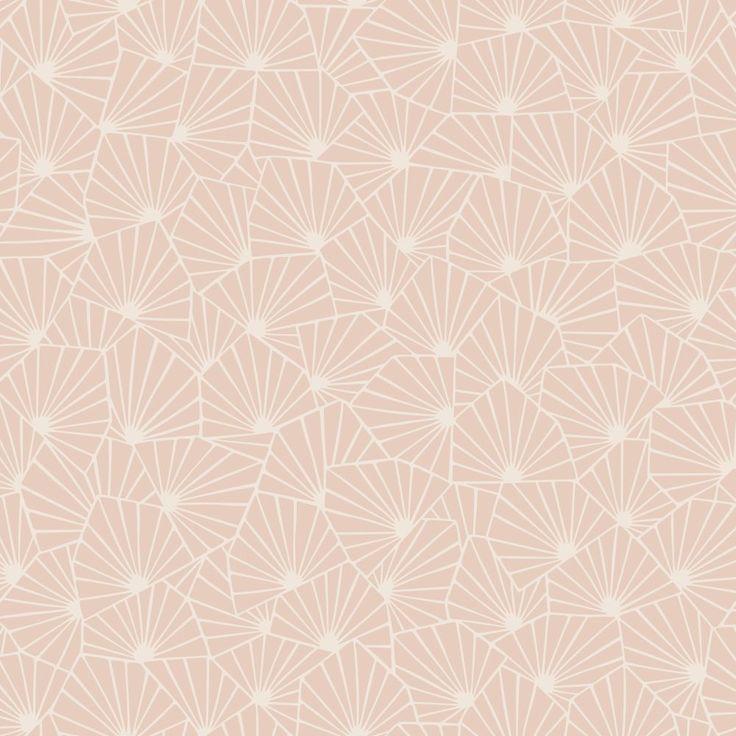 Stjarnflor Pink wallpaper by Boråstapeter