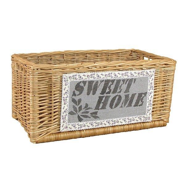 """Kosz kominkowy - szuflada z napisem """"SWEET HOME"""""""