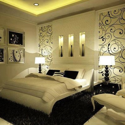 Nice Black And White Bedroom