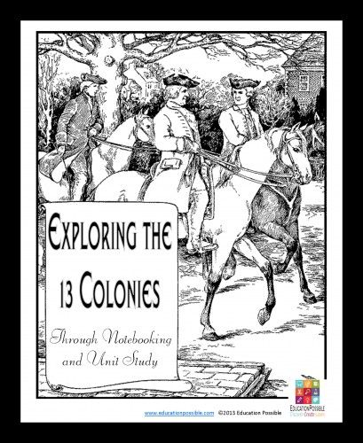 discover the 13 colonies a FREE study guide with beautiful notebooking pages by Education Possible