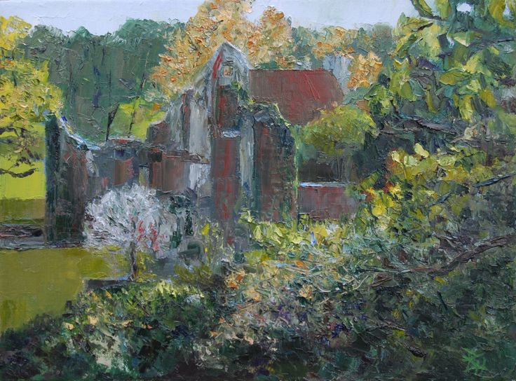 Scotney Castle 1, Oil painting by Brian Hanson | Artfinder