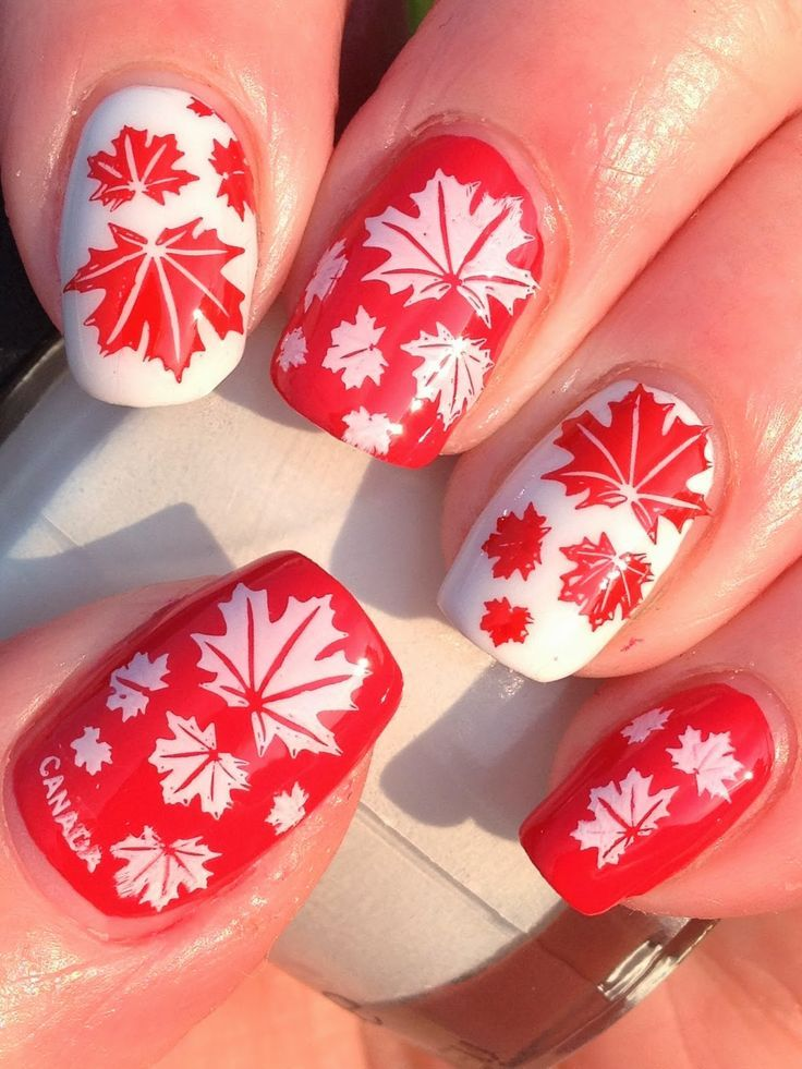 nice Canadian Nail Fanatic: Another Canada Day Mani!