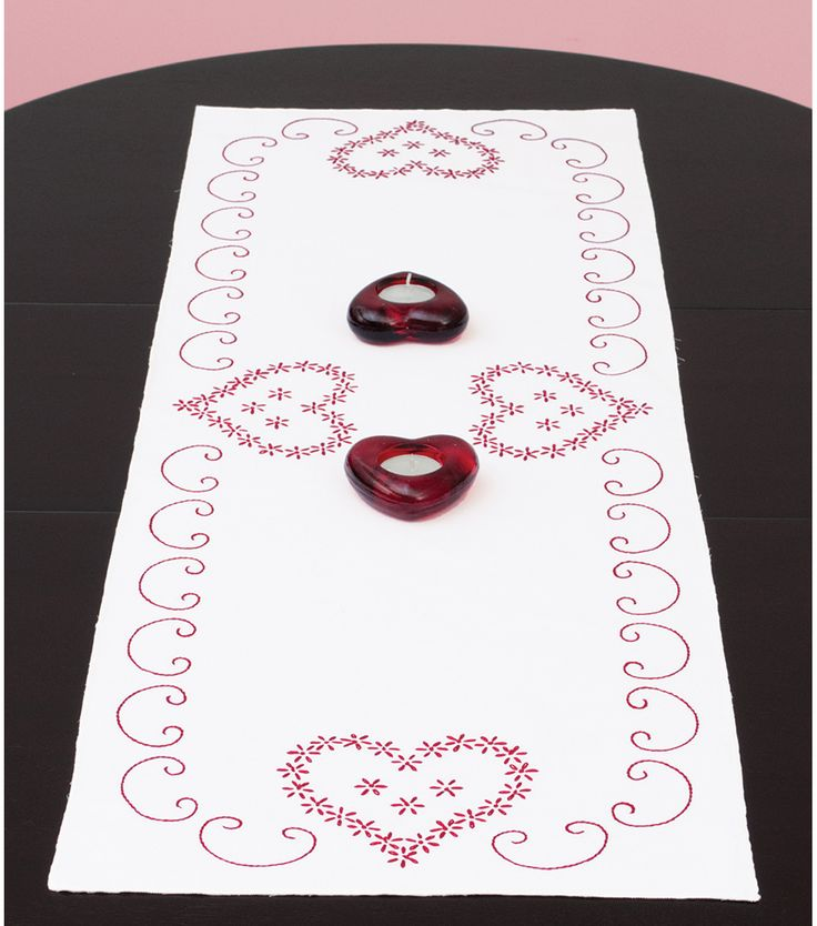 Jack Dempsey Stamped Table Runner/Scarf Valentine's DayJack Dempsey Stamped Table Runner/Scarf Valentine's Day,