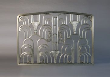 Art-Deco Fireplace Screen eclectic-fireplaces