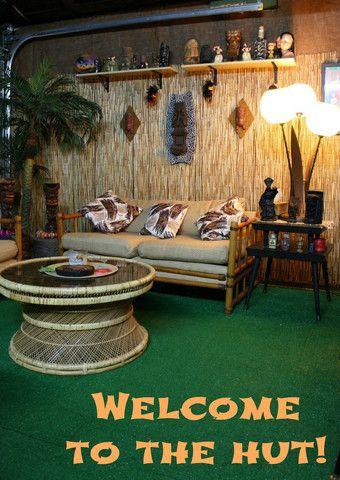 CLU Home Tiki Bar Series: The Hut #tikibar #homebar #tiki