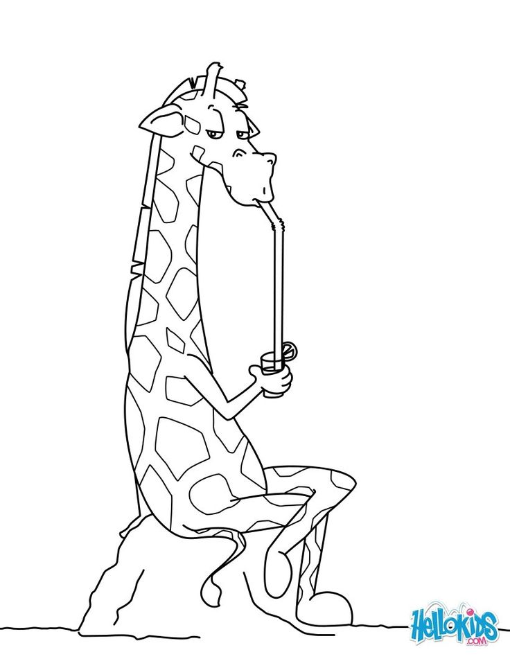 go green and color online this giraffe drinking a refreshment coloring page you can also
