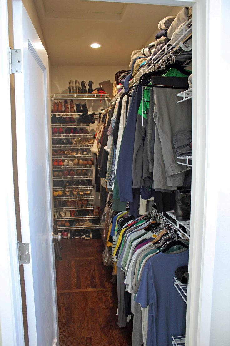 long narrow walk-in closet