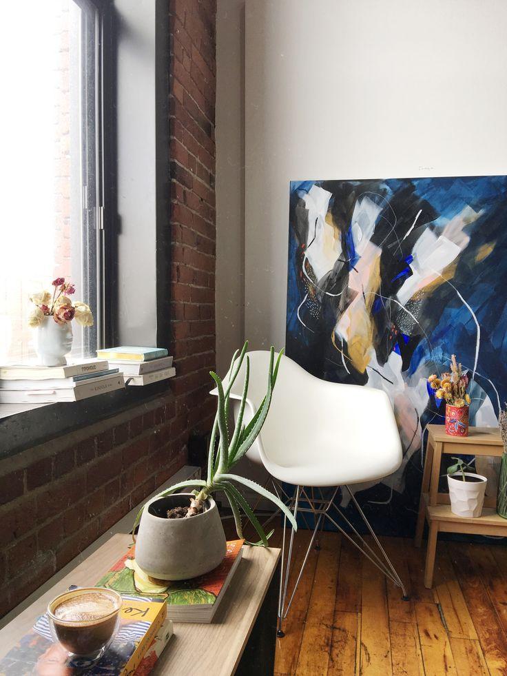 Our Studio -  Lysa Jordan  #artwork #loft #artstudio