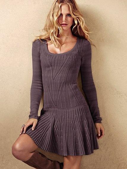 Victoria S Secret Pointelle Scoopneck Sweaterdress