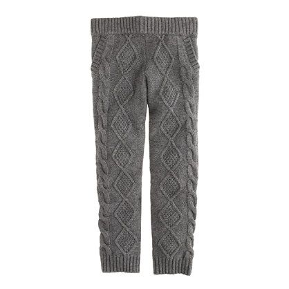Girls' cable-knit leggings - knit pants - Girl's pants & shorts - J.Crew
