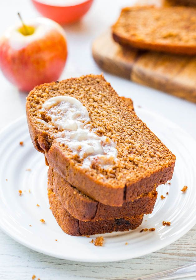 Cinnamon Spice Applesauce Bread with Honey Butter!!