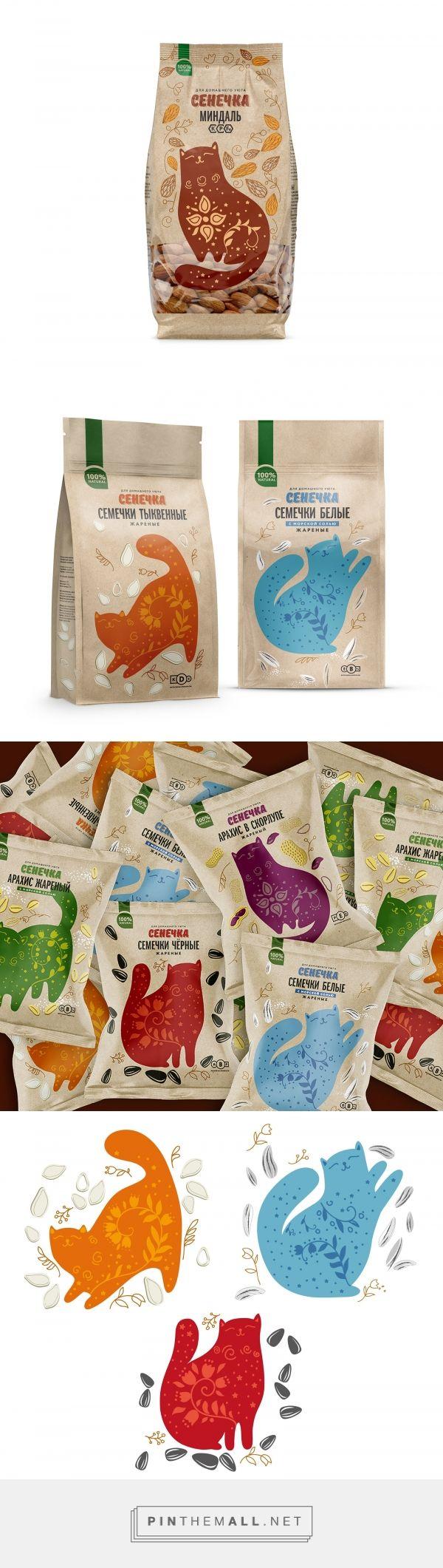 Senechka nuts&seeds - Packaging of the World - Creative Package Design Gallery - http://www.packagingoftheworld.com/2017/04/senechka-nuts.html