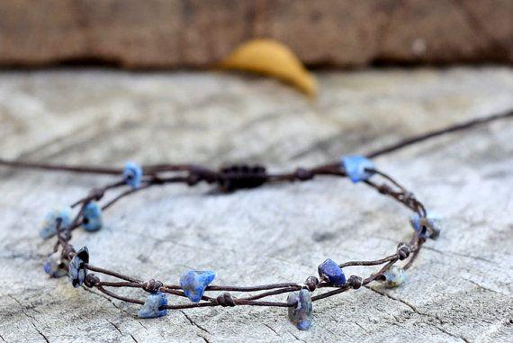Simple Sodalite Bracelet by brasslady on Etsy,