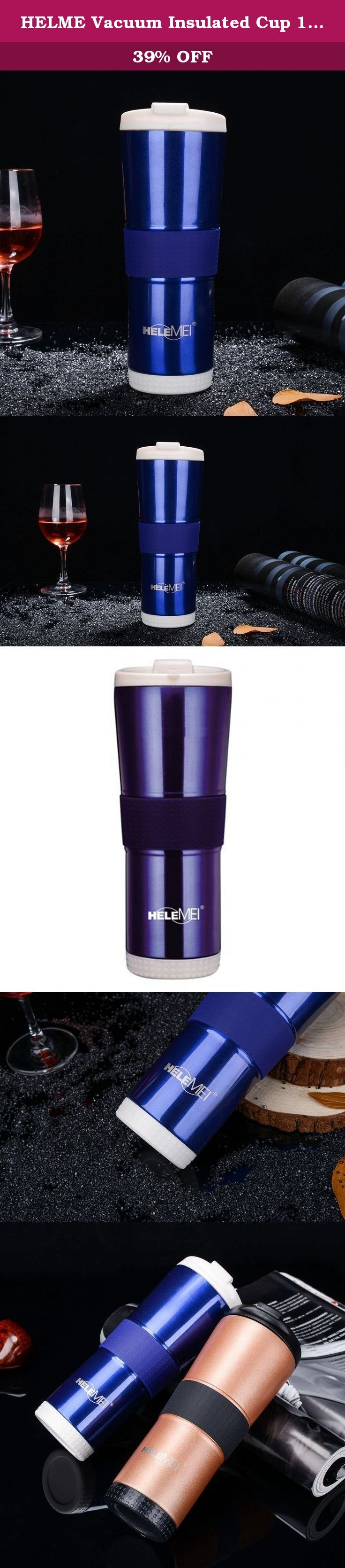 HELME Vacuum Insulated Cup 17oz - Wide Mouth Thermos Travel Mug Double Wall Coffee Mug (blue). One-piece Leak-proof Lid The HELME Coffee Mug has a one-piece leak-proof lid that allows for quick and easy cleaning while preventing leaks. The Coffee Mug lid easily snaps up for drinking and snaps closed to seal once you've finished.. Convenient for One-handed Drinking This Coffee Mug has a comfortable grip that provides convenient one-handed drinking for both left- and right-handed users. The...