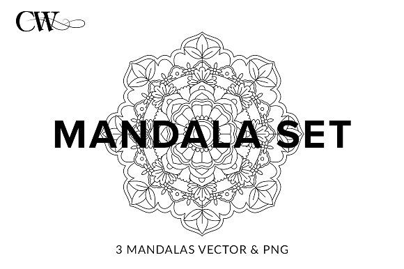Mandala Set by CoutureWeb on @creativemarket