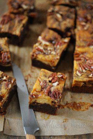 Brownies marbré au caramel beurre salé - Amuses bouche