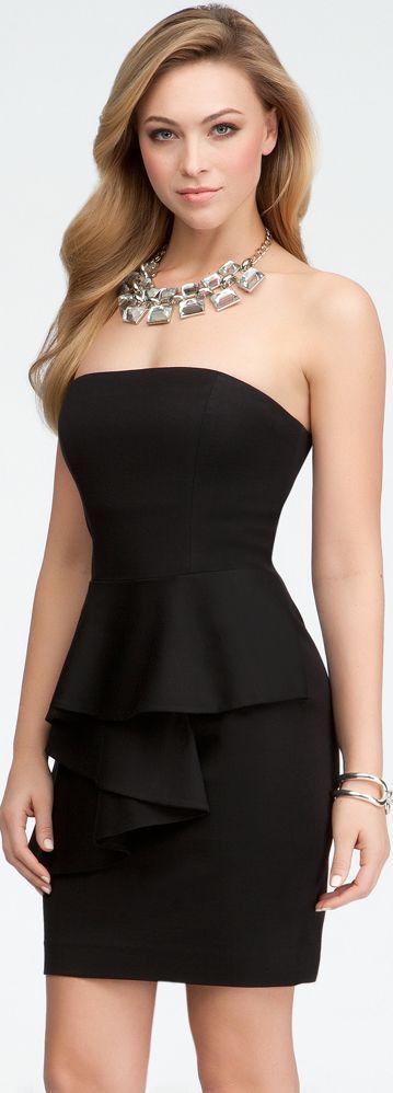 Vestidos tomara que caia pretos - http://vestidododia.com.br/vestidos-curtos/vestidos-tomara-que-caia-pretos/