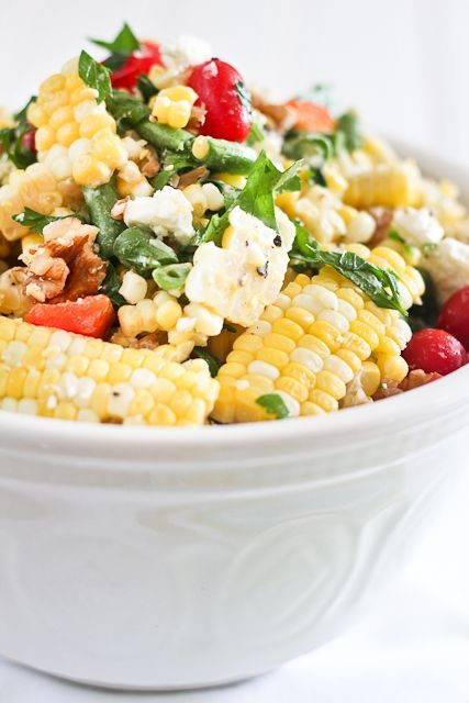 Grilled Roasted Corn Salad