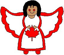 Canadian angel paper craft