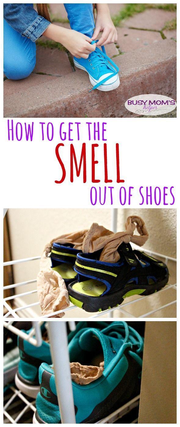Comment obtenir l'odeur de chaussures / par BusyMomsHelper.com Cette pointe de nettoyage rapide peut vous aider à résoudre ces chaussures puantes!